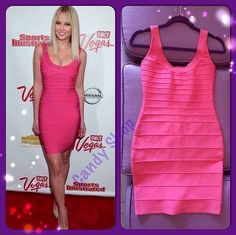 Sencillo pero hermoso!!! Celebrity dress pink