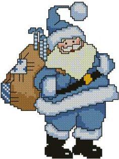 Advanced Embroidery Designs - Blue Santa
