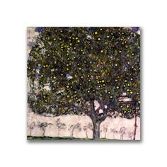 Gustav Klimt 'The Apple Tree' Canvas Art