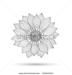 Abstract floral background.  Element for design. Vector illustration. - stock vector