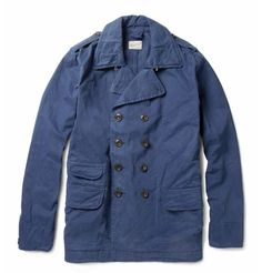HartfordDouble-Breasted Washed Cotton-Twill Jacket