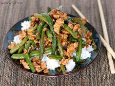 Low Fodmap Stir Fried rice. Recept voor rijst met kip en sperziebonen. Low Fodmap!