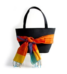 Handbag styled with a Scarf