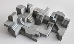 Concrete modular sculptures that create an optical illusion by David Umemoto Creative Boom Mc Escher, Face Painting Tutorials, Face Painting Designs, Concept Architecture, Architecture Design, Creative Architecture, Ancient Architecture, Lego Poster, Lego Hacks