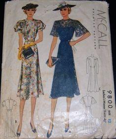 McCall 9800 | ca. 1938 Ladies' & Misses' Dress