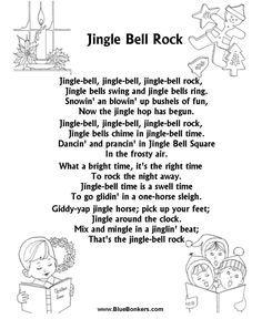 lyrics for jingle bell rock printable - Google Search