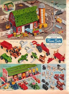 Vintage Farm Playset from a 1955 Spiegel catalog