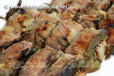 """Sicilian Meat rolls - Involtini di carne alla siciliana – spiedini o """"spitini"""" siciliani"""