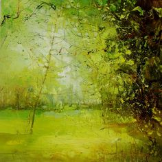 'Ancient Forest' by Claire Wiltsher 60x60cm mixed media on canvas £700 - available now at www.lyndhurstgallery.co.uk. Visit us at the heart of the New Forest in Hampshire UK. We deliver worldwide.