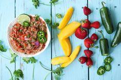 Salsa Fresca, three ways {mango, strawberry, cilantro}