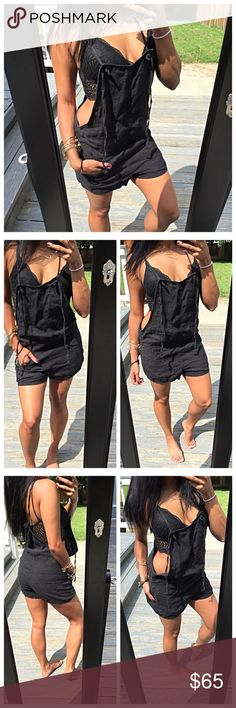 """🆕 Blank NYC overalls Worn and washed once. These """"overalls"""" are SO adorable! Plenty of pockets for the necessities. Great relaxed fit, perfect over bathing suits or long sleeve crop tops when it's chillier. Paid a lot for this so my price is firm! ❌NO TRADES. Blank Denim Pants Jumpsuits & Rompers"""