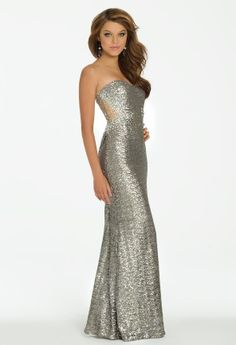 All Sequin Illusion Long Dress from Camille La Vie and Group USA #homecoming #prom