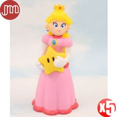 """Find More Action & Toy Figures Information about New 5 PCS Super Mario Bros Peach Princess Action Figures Japan Anime Cartoon Doll Kids Toys Approx 12cm/5"""" Free Tracking,High Quality kids panda,China doll high Suppliers, Cheap doll marionette from M&J Toys Global Trading Co.,Ltd on Aliexpress.com"""