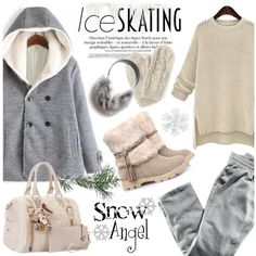 So Cute: Ice Skating Style by helenevlacho on Polyvore featuring H&M, Bibico, ANNIE, contestentry, winterstyle and iceskatingstyle