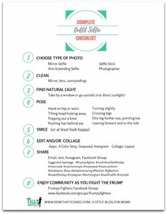 Free Download- Checklist for how to get better pictures of your outfits!