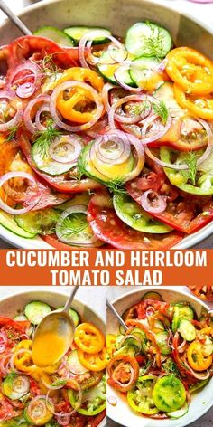 Get the most out of summer produce by combining simple and quality ingredients in this flavour packed cucumber and tomato salad. Dressing your garden vegetables with an easy vinaigrette is all you need to let the ingredients shine.