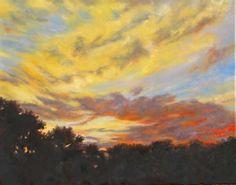 Sunset Sky 24x30 oil $1200 Mary Champion