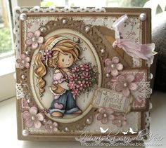 This gorgeous little lady is named Ruby and she is one of the latest Wee Stamps released by Whimsy Stamps. She was colored with Copic Markers and completely 3D paper pieced. More pictures and details can be found on my blog.