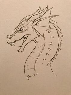 Scary Drawings, Art Drawings Sketches Simple, Pencil Art Drawings, Animal Drawings, Cool Dragon Drawings, Indie Drawings, Dragon Sketch, Dragon Artwork, Arte Sketchbook