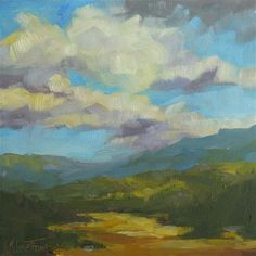 """Golden Valley - Landscape Painting by Melanie Thompson"""
