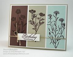 NEW Wild about Flowers & Washi Label  Punch card by Dawn Olchefske for DOstamperSTARS Thursday Challenge #135 #dostamping #stampinup