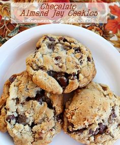 Chocolate Almond Joy Cookies