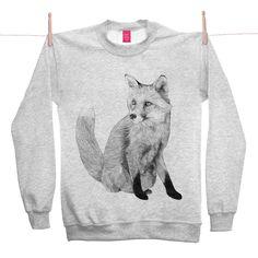 'Neville' Fox Sweater by Jamie Mitchell