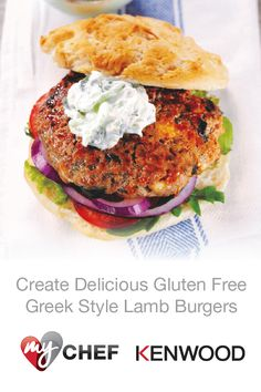 Love to BBQ? Create impressive Gluten-Free Greek Style Lamb Burgers with a Kenwood Chef