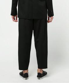 GANRYU Men's(ガンリュウ メンズ)の2016SS ウールギャバジンテーパードパンツ(パンツ)|詳細画像