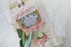 Shabby Rose Bridal Gift Tag with Vintage by underthenightmoon, $10.00