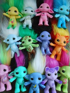 The Zelfs. These are zelfs they are a bit like trolls Toys Land, Moose Toys, Living Dead Dolls, Kawaii, Troll Dolls, Toy Rooms, Plush Animals, Toys For Girls, New Toys