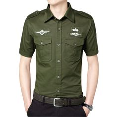 high quality cotton short sleeve men shirts military army dress shirt camisas hombre 3 colors M 3XL ACS01-in Casual Shirts from Men's Clothing & Accessories on Aliexpress.com   Alibaba Group