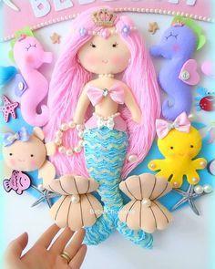 43 cm #denizkizi#mermaid#doll#bezbebek# NE YAPARSAN YAP AŞK İLE YAP #kapisusu#deniztemasi#feltdoll#кукла#рцсалка#куколка#панно#детскаякомната#фетр#fetro#felt#dolls#bebechocolate#