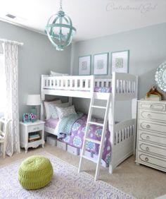 Blue on the brain: 12 blue hued nursery + kids rooms   #BabyCenterBlog #bunkbeds #girls #bedroom