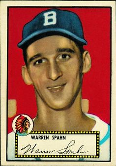 Warren Spahn 1952 Pitcher - Boston Braves  Card Number: 33A  Series: Topps Series 1
