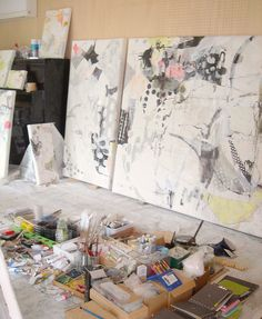 "Preparing for the upcoming show:-  Mayako Nakamura solo show  "" another everyday ""  Gallery Art Point / Ginza, Tokyo"