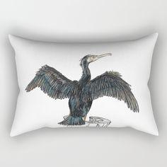 The Great Cormorant Rectangular Pillow