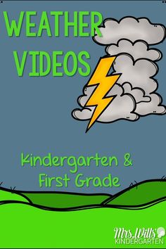 Kids weather videos, songs, and books that are teacher approved to share with your kindergarten or grade class during your weather unit. Weather For Kids, Weather Activities For Kids, Teaching Weather, Preschool Weather, Weather Science, Weather Unit, Weather Crafts, Weather Experiments, Science Experiments