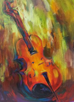 Medium Sized Original Acrylic Painting  Musical by londonartgirl, $348.95