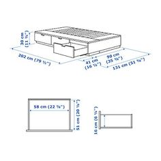 IKEA NORDLI bed frame with storage Soft-closing drawers run smoothly, slowly and silently. Bed Frame Design, Bedroom Bed Design, Bedroom Decor, Bed Frame With Storage, Bed Storage, Build A Camper Van, Ikea Bed Frames, Ikea Nordli, Ikea Bed Hack