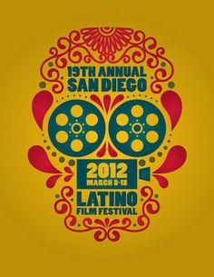 San Diego Latino Film Festival //  Poster idea.  Dia de los Muertos