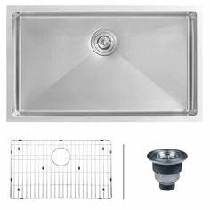 Ruvаtі Single Bowl Kitchen Sink - RVH7400 Undеrmоunt 16 Gаugе 32 Inch