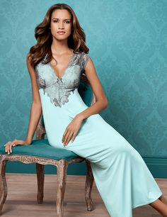 Illustrious Deep V Gown #SomaIntimates #MothersDay #nightgown