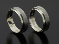 #Rings by #Bielak  #wedding rings from #Poland  certified white #gold / palladium  pattern: etched / polished    Hand Made