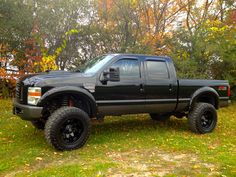 """G McG.- My personal ride. 2008 F-250 6.4L, H&S Mini Maxx (+300hp tune), 5"""" Flo-Pro straight exhaust, CAC pipe, Banks intake, CVC mod, 6"""" pro comp lift, 12x20 -44 Fuel Octane rims with 37""""x13.5 x 20 Toyo's, pro comp dual stabilizers, full audio upgrade. Recon smoke third light and mirror indicators. Bushwacker fender flares. Lots on the list to go!"""