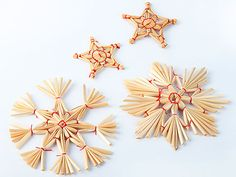 traditional German Christmas stars made from straw
