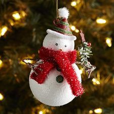 glitter snowman with tree ornament pier one christmas first christmas ornament christmas tree ornaments
