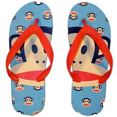 ,sock monkey flip flops
