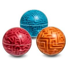 You've got to rotate the A-Maze-Ball Maze Game in 3D to get our old friend gravity to pull the ball bearing around corners and along walls to get from end to end. Choose easy (red), medium (orange), or hard (blue) difficulty level.