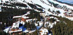 vue aérienne du jardin alpin @hotel new solarium courchevel